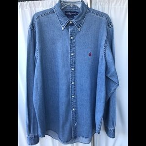 🐎 🐎 Ralph Lauren Denim Button Up Shirt